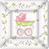 Rosanne Beck Pink Baby Carriage Square Paper Dessert Plate