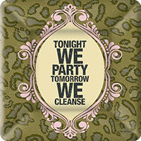 Naughty Betty Cleanse Square Paper Dessert Plate