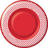 Candy Cane Stripe Round Paper Dinner Plate