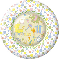 Oh Baby Round Paper Dinner Plate