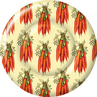 Carrots Round Paper Dinner Plate