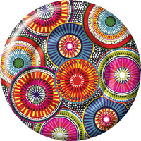 Be-Spoked Round Paper Dinner Plate