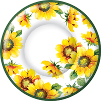 Colourful Sunflower Round Dinner Plate