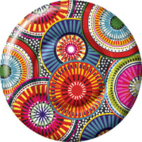 Be-Spoked Round Paper Dessert Plate