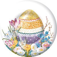 Decorative Easter Egg Round Paper Dessert Plate