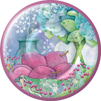 Beautiful Mood Round Paper Dessert Plate
