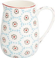 Winter Dotty Light Blue Porcelain Pitcher