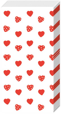 My little Sweetheart Pocket Tissue red