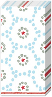 Winter Dotty Light Blue Pocket Tissue