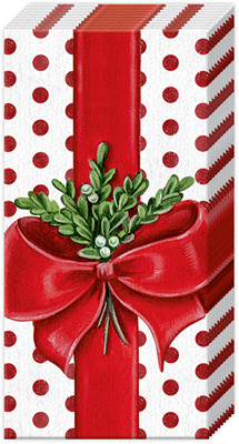 A Present for You White Red Pocket Tissue