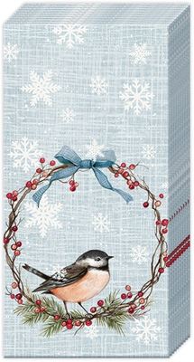 Chickadee Light Blue Pocket Tissue