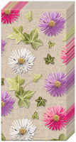 Autumn Asters Pocket Tissue linen