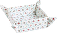 Winter Dotty Light Blue Bread Basket Square