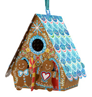 Santoro Gingerbread House Bauble Card
