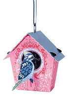 Santoro Bird House Woodpecker Chandelier Card