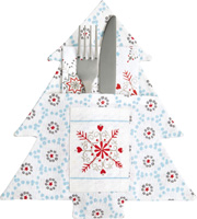 Winter Dotty Light Blue Cutlery Pocket