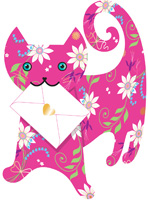 Special Delivery Daisy Cat 3D Card