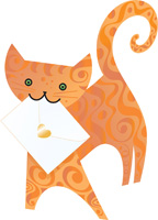 Special Delivery Marmalade Cat 3D Card