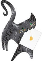 Special Delivery Lucky Cat 3D Card