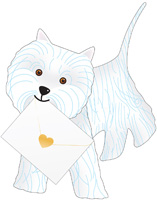 Special Delivery Bonnie Dog 3D Card