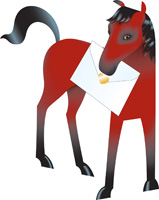 Special Delivery Chestnut Horse 3D Card