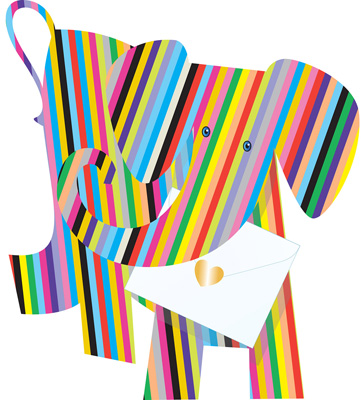 Special Delivery Bonbon Elephant 3D Card