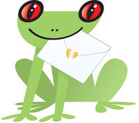 Special Delivery Paddy Frog 3D Card