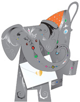 Special Delivery Jem Elephant 3D Card