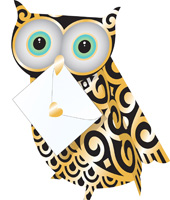 Special Delivery Quill Owl 3D Card