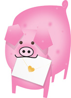 Special Delivery Piggy Pig 3D Card