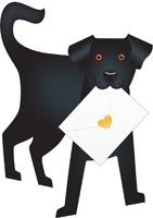 Special Delivery Jet Dog 3D Card