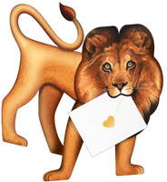 Special Delivery Leo Lion 3D Card
