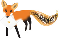 Special Delivery Foxy Fox 3D Card