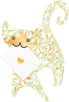 Special Delivery Blossom Cat 3D Card