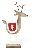 Alpine Forest Red Birch Deer Tree Blanket Small