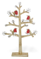 Alpine Forest Red Birch Cardinal Tree Large