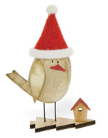 Alpine Forest Red Birch Santa Hat Bird Adelle