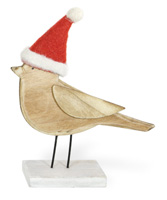 Alpine Forest Red Birch Santa Hat Bird Bea