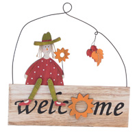Nutz Scarecrow Welcome Sign