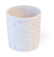 Alabaster Nativity Small Tealight Holder