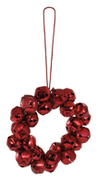 Red Bells Wreath Ornaments