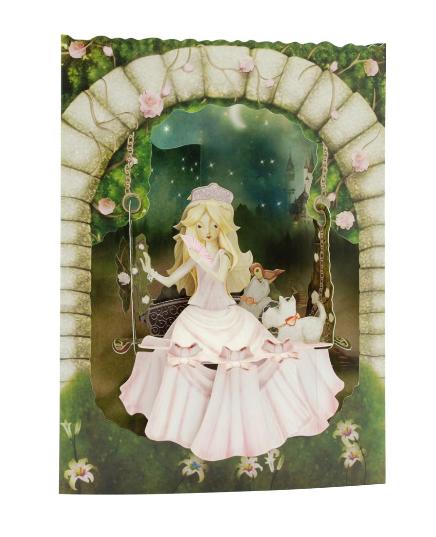 Santoro Princess on a Swing Swing Card