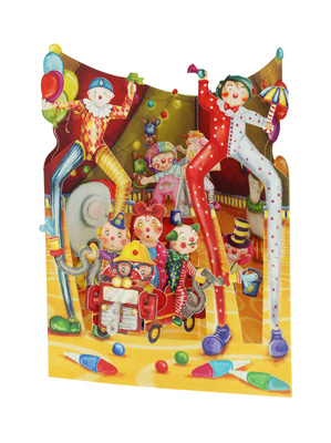 Santoro Big Top Clowns Swing Card