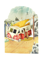 Santoro Campervan Swing Card