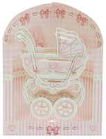 Santoro Baby Girl Crib Swing Display Card