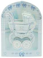 Santoro Baby Boy Crib Swing Display Card
