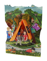 Santoro Camping Swing Display Card