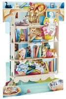 Santoro Cats on Bookshelves Swing Card
