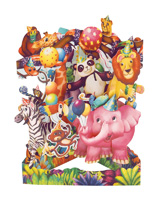 Santoro Animal Party Swing Card