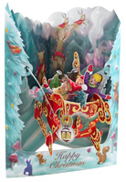 Santoro Sleigh Swing Card
